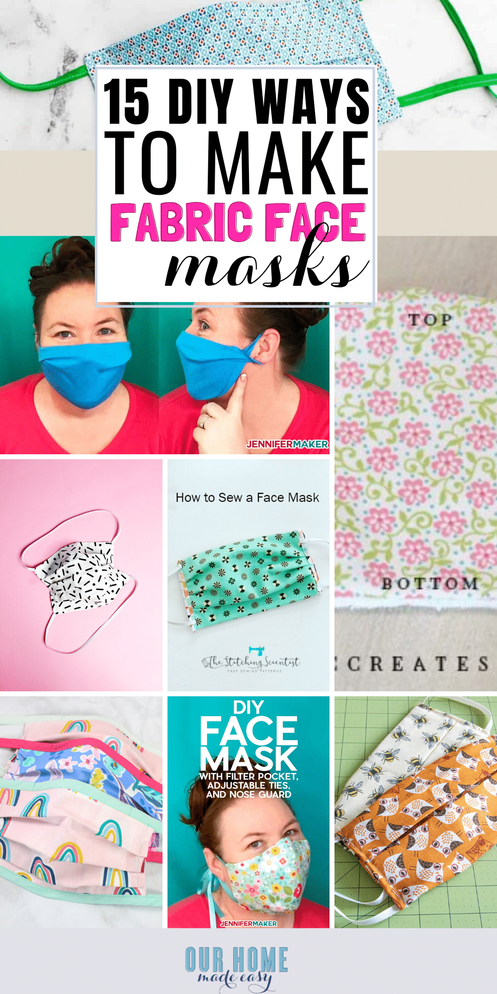 These DIY face masks are easy to make! Whether you need removable filters or no-sew ideas, you are sure to find your best fabric masks here!