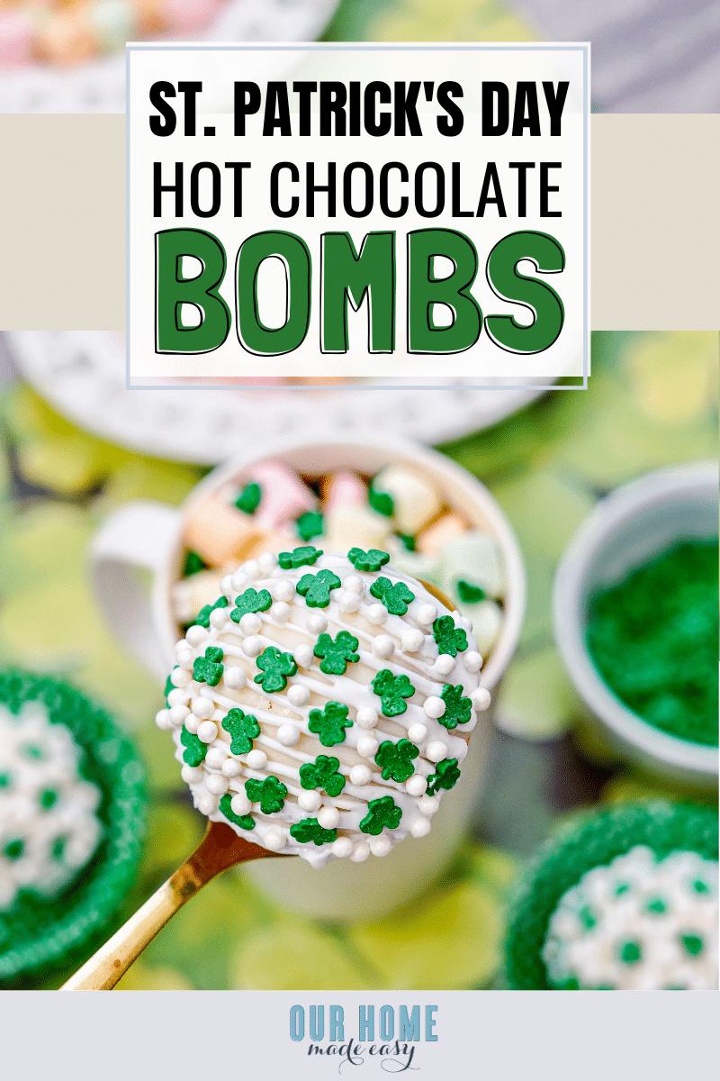 Single White Chocolate Hot Cocoa Bomb on Spoon