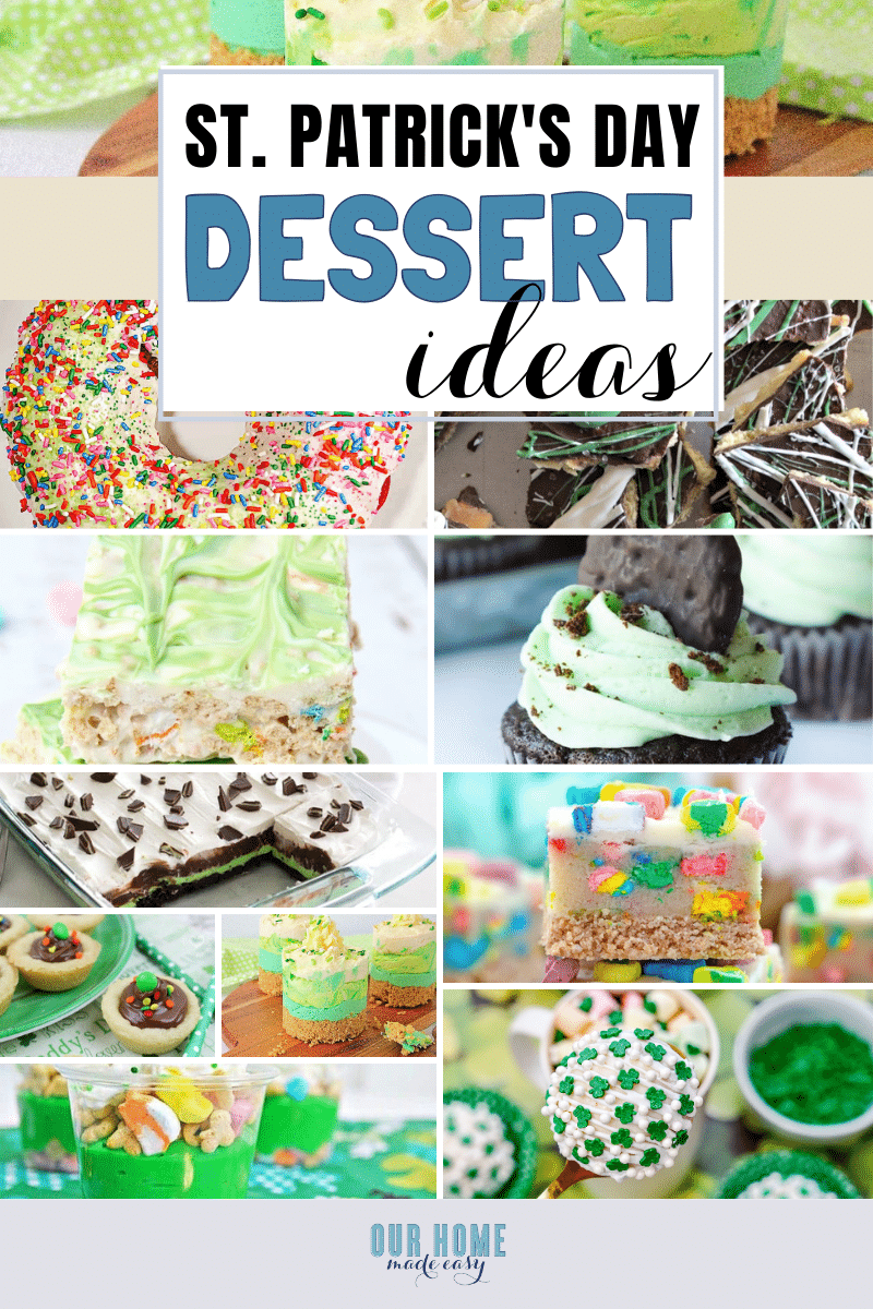 Delicious and fun, these easy St. Patrick's Day desserts are perfect for celebrating St. Patrick's Day at home or serving at your next St. Patrick's Day party.